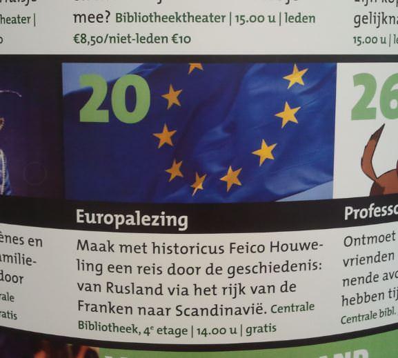 Aankondiging van de Europalezing in oktober 2014